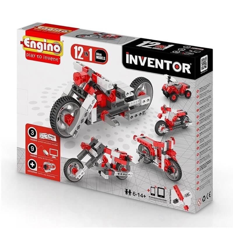 Κατασκευή 12 σε 1 Μοτοσυκλέτες - Engino Inventor