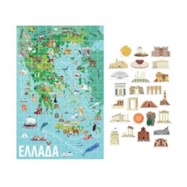 Headu Μάθε τα Πάντα για την Ελλάδα - Παζλ με 216 κομμάτια και 25 3D μηνμεία.
