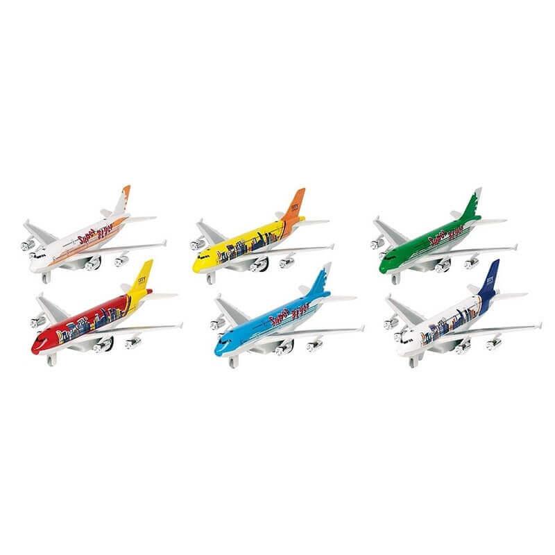 Μεταλλικό Αεροπλάνο με Ήχους και Φώτα (6 Σχέδια)