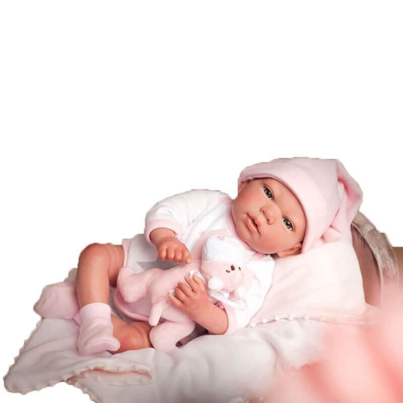 Μωρό Reborn Munecas Arias Gala με Κουβέρτα και Αρκουδάκι 40 εκ. (98035)