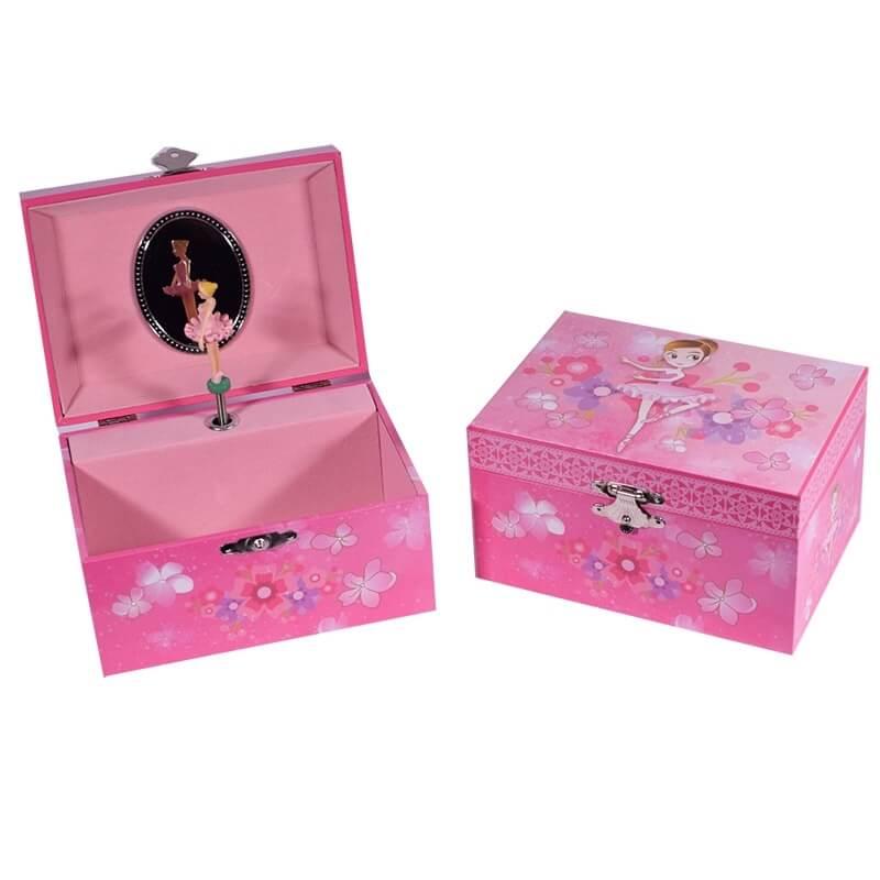 Μπιζουτιέρα - Μουσικό Κουτί Μπαλαρίνα Ροζ