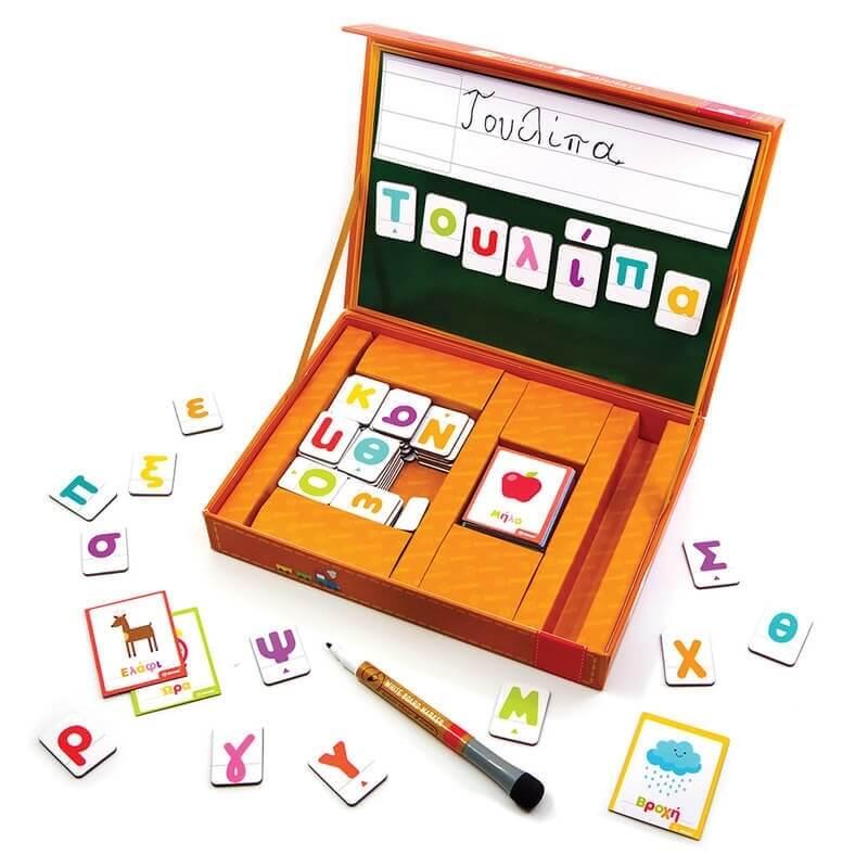 """Μαγνητικό Σετ """"Παίζω με τις Λέξεις & Μαθαίνω τα Γράμματα"""""""