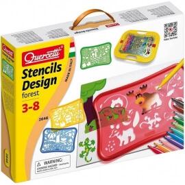 Ζωγραφική με Στένσιλ - Quercetti Stencils Design Forest