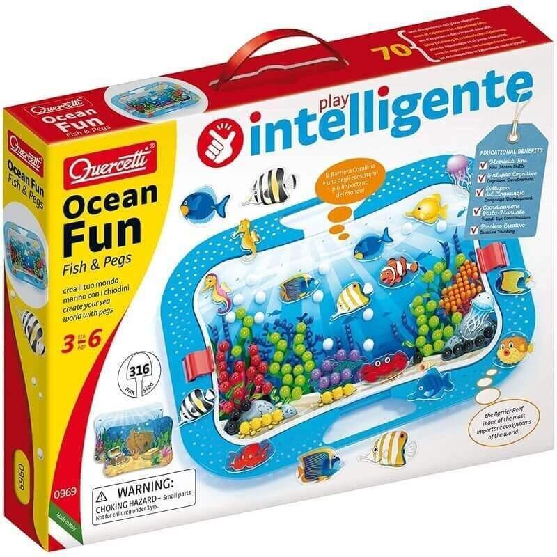 Ψηφιδωτό Quercetti Ocean Fun Fish & Pegs με 316 Καρφάκια