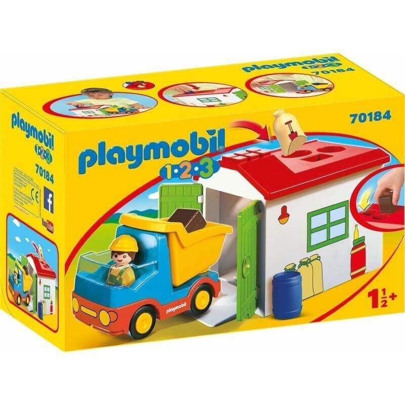 Playmobil Προσχολική Σειρά 1.2.3 Φορτηγό με Γκαράζ (70184)