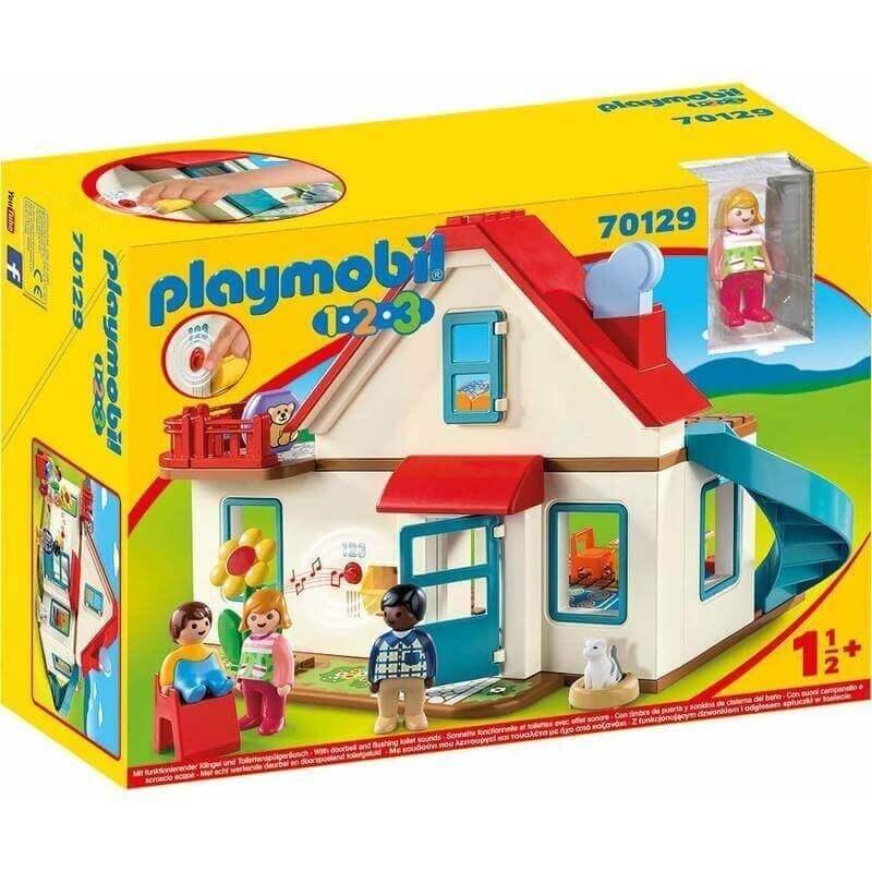 Playmobil Προσχολική Σειρά 1.2.3 Επιπλωμένο Σπίτι (70129)