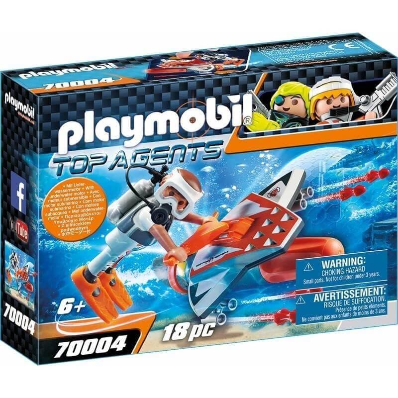 Playmobil Top Agents IV - Υποθαλάσσιο Τζετ της Spy Team (70004)