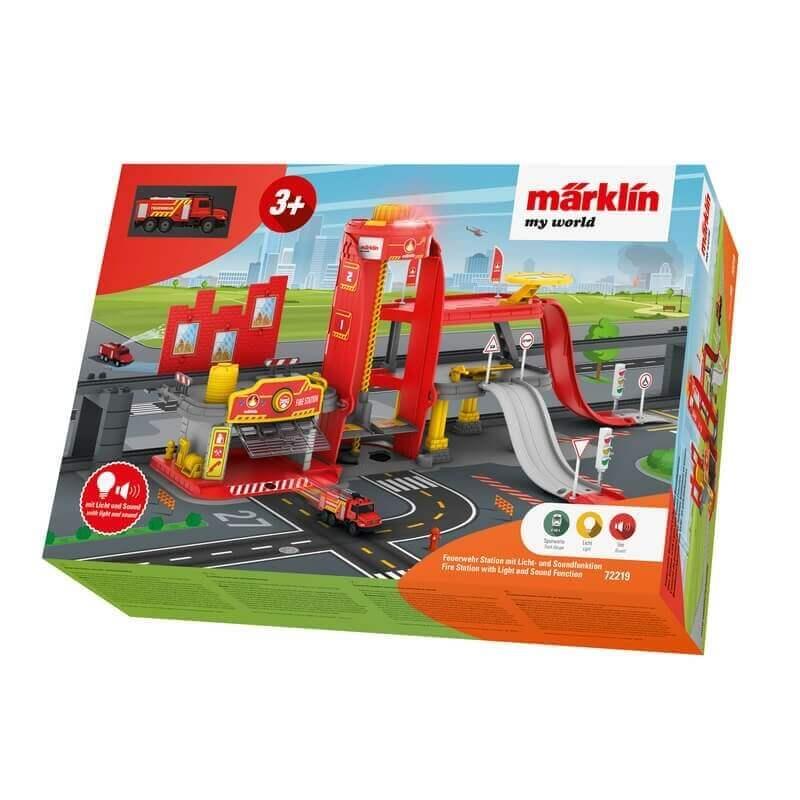 Πυροσβεστικός Σταθμός με Ήχους και Φώτα για τρένα Märklin my world 3+ (72219)
