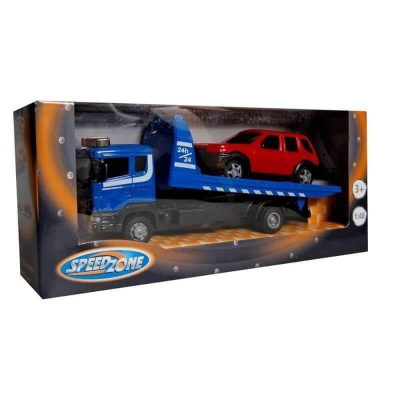 Φορτηγό Οδικής Βοήθειας με Αυτοκίνητο Μπλε