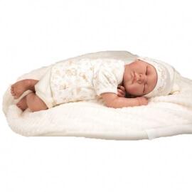 Μωρό Reborn Pablo 45εκ. με κλειστά Μάτια και Κουβερτάκι Arias (98022)