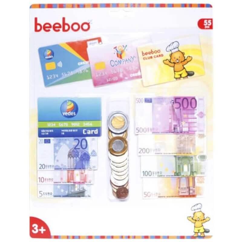Σετ Παιδικά Χαρτονομίσματα και Κέρματα Beeboo 55 κομ.