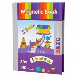 """Μαγνητικό Βιβλίο Παζλ """"Σχήματα"""" με 30 κάρτες"""