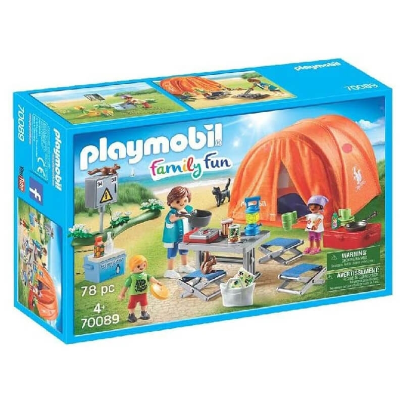 Playmobil - Οικογενειακή Σκηνή Camping (70089)