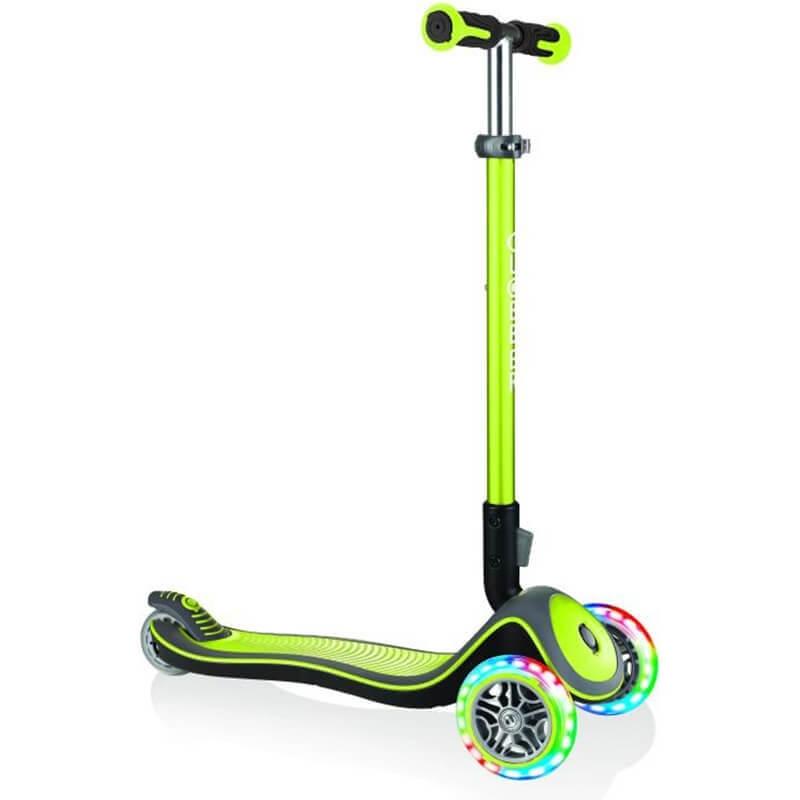 Πατίνι Globber Scooter Elite Deluxe lime green με τροχούς LED