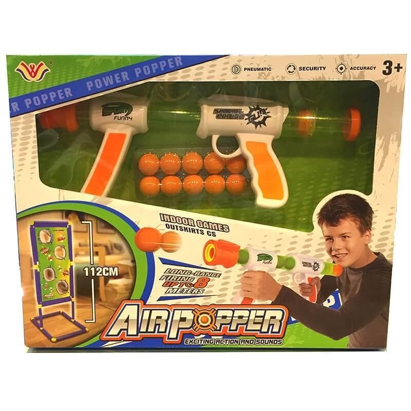 Παιδικό Όπλο με Μπάλες και Επιδαπέδιος Στόχος
