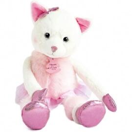 Γάτα Ροζ Λούτρινη Misty 35εκ. - Histoire d'Ours