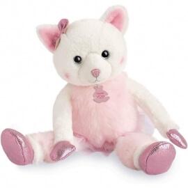 Γάτα Ροζ Λούτρινη Misty 25εκ. σε Κουτί Δώρου