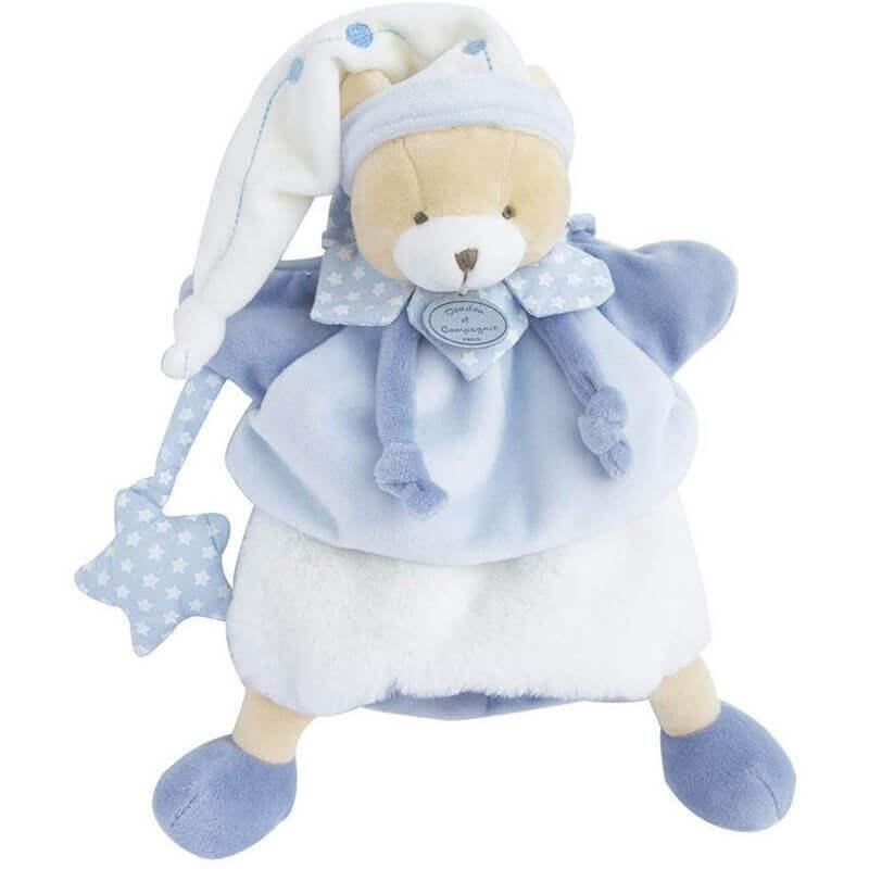 Αρκουδάκι Γαλάζιο Γαντόκουκλα Doudou 28εκ.