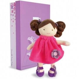 Πάνινη Κούκλα Φούξια με Λουλούδι 28εκ. σε Κουτί Δώρου