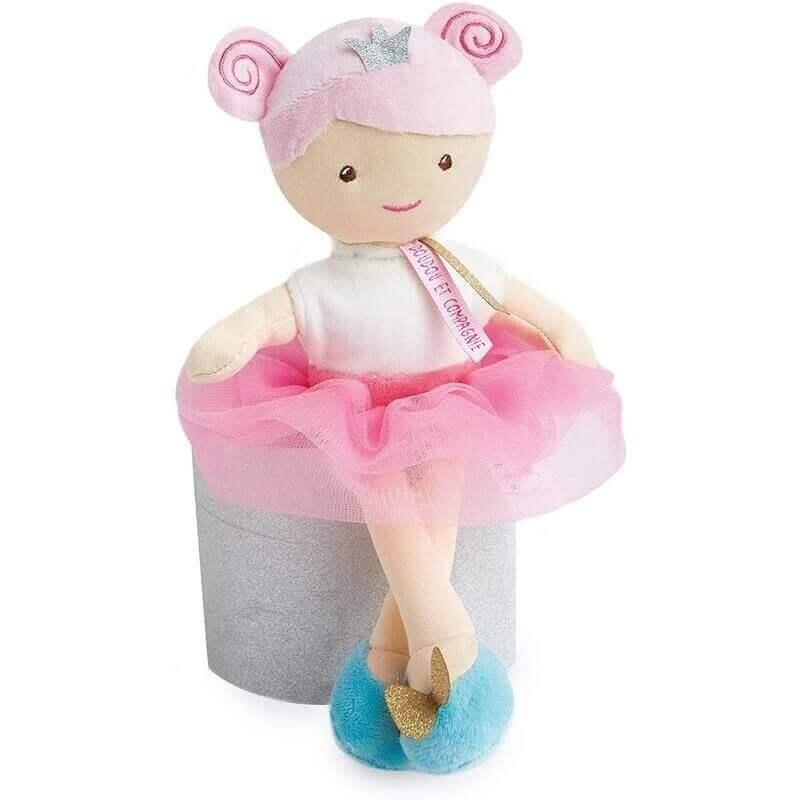 Πάνινη Κούκλα Πριγκίπισσα Λευκή-Ροζ 30εκ. σε Κουτί Δώρου