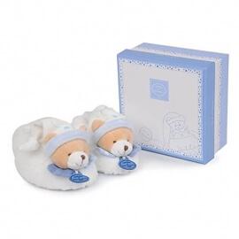 Παπουτσάκια Μπεμπέ Αρκουδάκι Γαλάζιο (0-12μηνών) σε Κουτί Δώρου