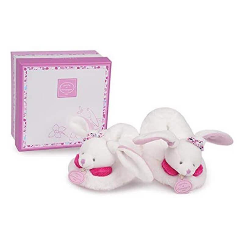 Παπουτσάκια Μπεμπέ Λαγουδάκι Φούξια (0-12 μηνών) σε Κουτί Δώρου