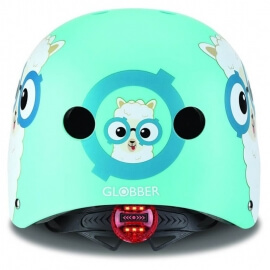 Globber Κράνος Elite Lights Sky Blue Buddy (48-53cm) με LED