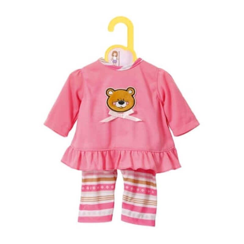 Ροζ Πυζάμες για Κούκλα Dolly Moda 36 cm