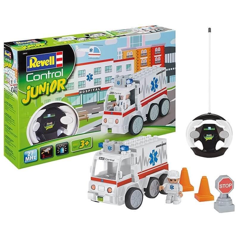 Κατασκευή Όχημα Ασθενοφόρο με Τηλεκατεύθυνση- Revell Junior Kit