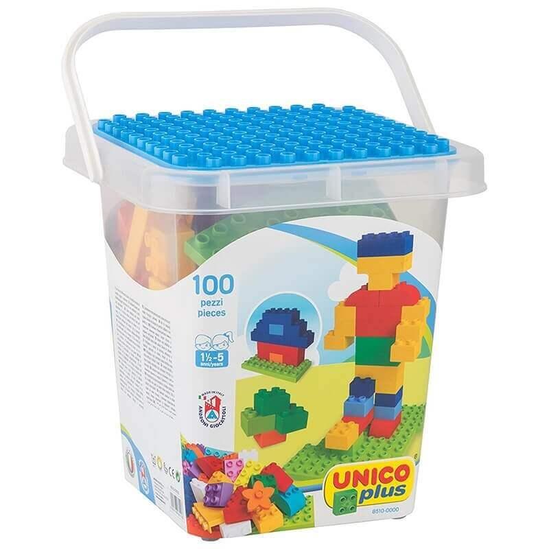 Unico Plus Τουβλάκια - Κουβάς με Τουβλάκια και Βάση 100 τεμ