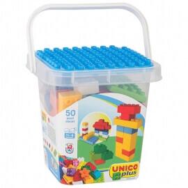 Unico Plus Τουβλάκια - Κουβάς με Τουβλάκια και Βάση 50 τεμ