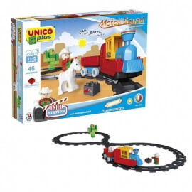 Unico Plus Τουβλάκια - Κατασκευή Τρένο Μπαταρίας Με Γραμμές 46τεμ