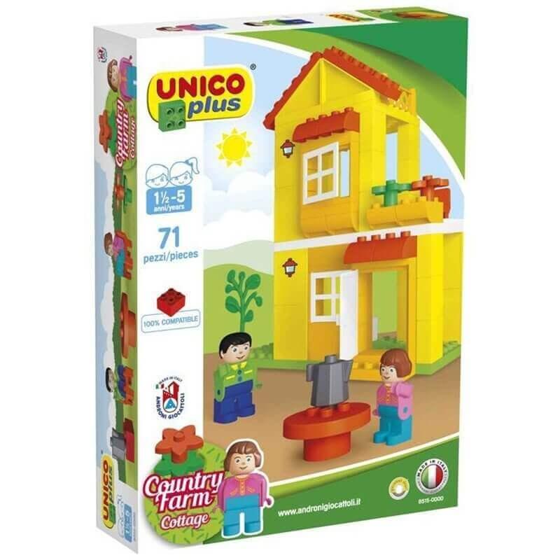 Unico Plus Τουβλάκια - Σπίτι με Ανθρωπάκια 71 τεμ.