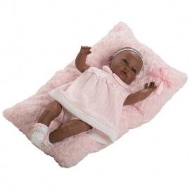Μωρό με Ήχους και Ροζ Κουβερτάκι Sara 50εκ.