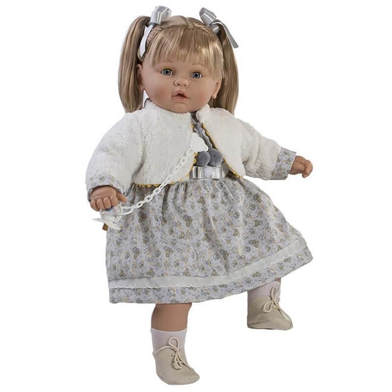 Κούκλα με Ήχους, Πιπίλα και Κλεισιμο Ματιών Baby Dulzon 62εκ. (8045)