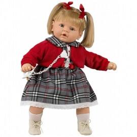 Κούκλα με Ήχους, Πιπίλα και Κλεισιμο Ματιών Baby Dulzon 62εκ. (8038)