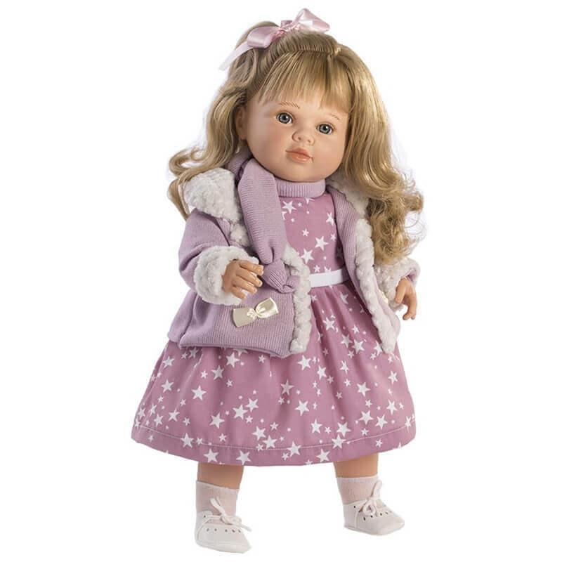 Κούκλα με Ήχους Carla με Λιλά φόρεμα 52εκ.