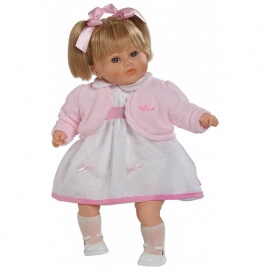 Κούκλα με Ήχους Carla με Ροζ Ζακέτα 52εκ.