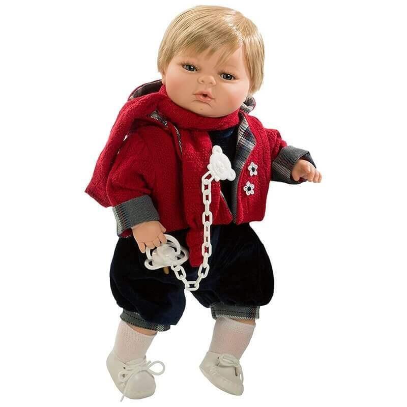 Κούκλα με Ήχους και Πιπίλα Αγόρι Raul 42εκ.