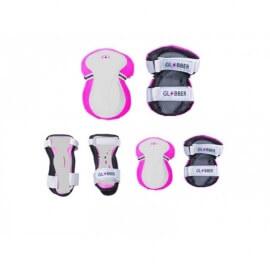 Globber Σετ Προστατευτικά για Ποδήλατο/Πατίνι XS (25-50 kg) Ροζ