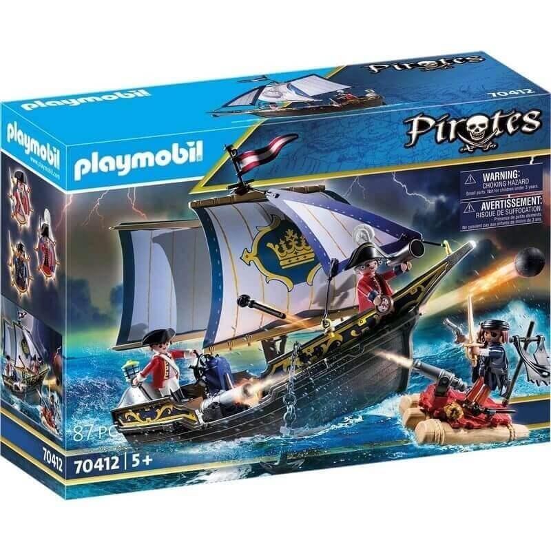Playmobil Πειρατές - Πλοιάριο Λιμενοφυλάκων (70412)