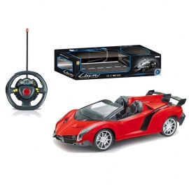 Σπορ Τηλεκατευθυνόμενο Αυτοκίνητο με Φορτιστή USB και Φώτα κόκκινο