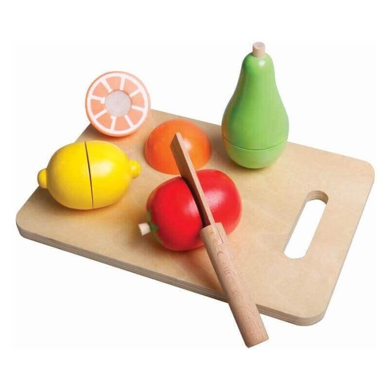 Ξύλο Κοπής με Φρούτα και Μαχαιράκι