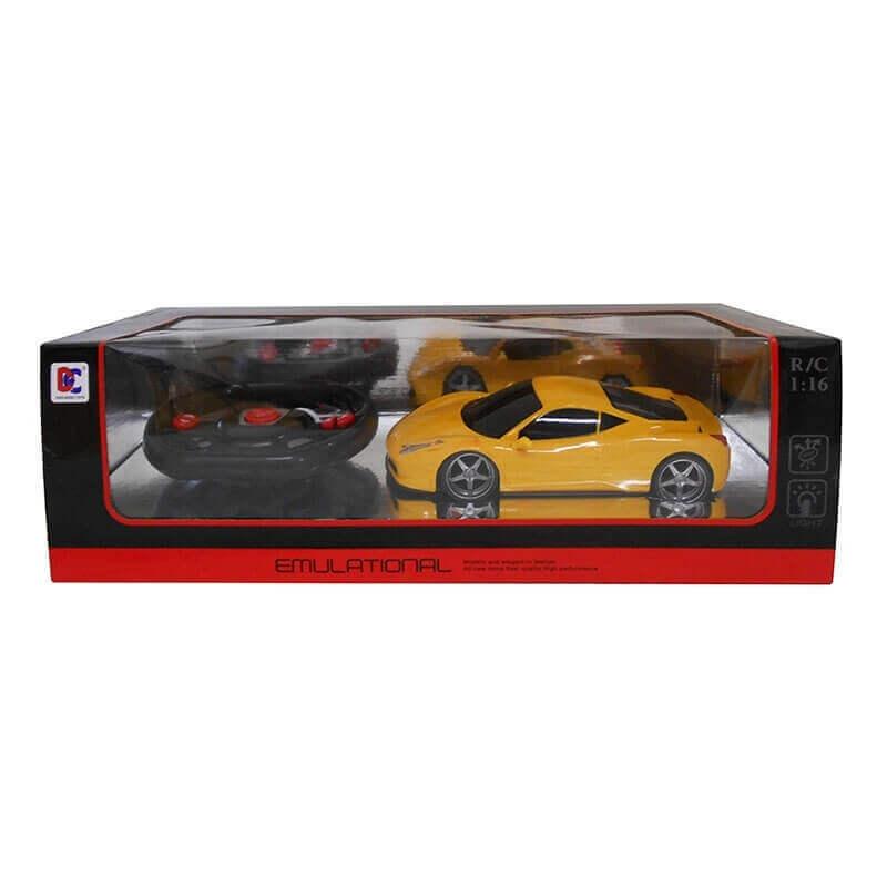 Τηλεκατευθυνόμενο Σπορ Αυτοκίνητο με Φορτιστή (κίτρινο)
