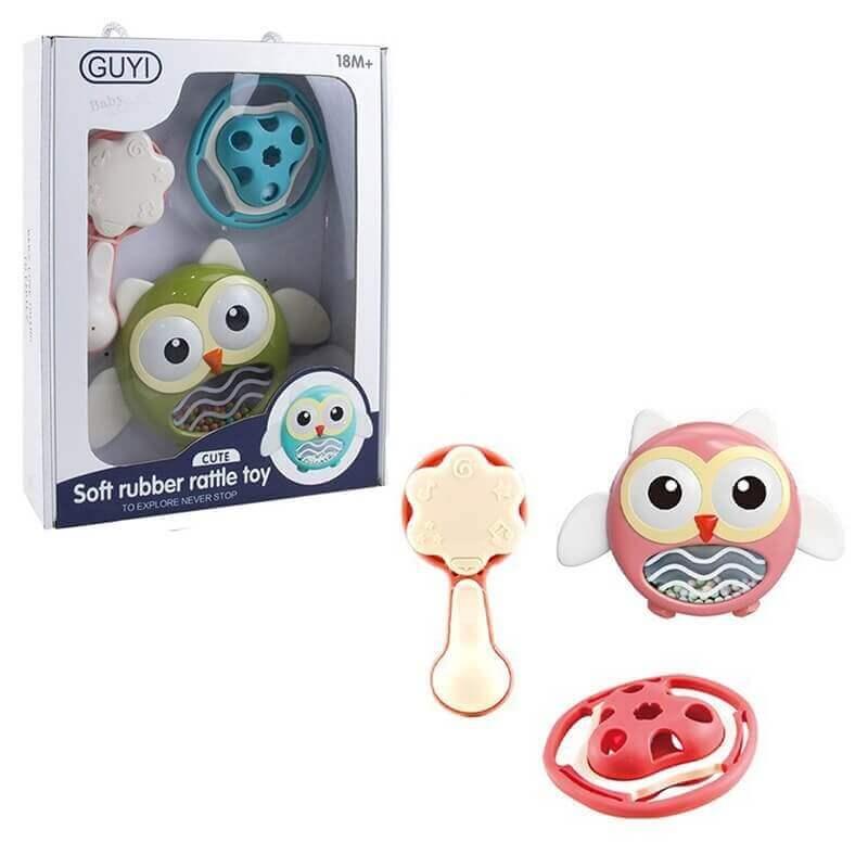 Σετ με 3 Κουδουνίστρες - Soft Rubber Rattle Toy