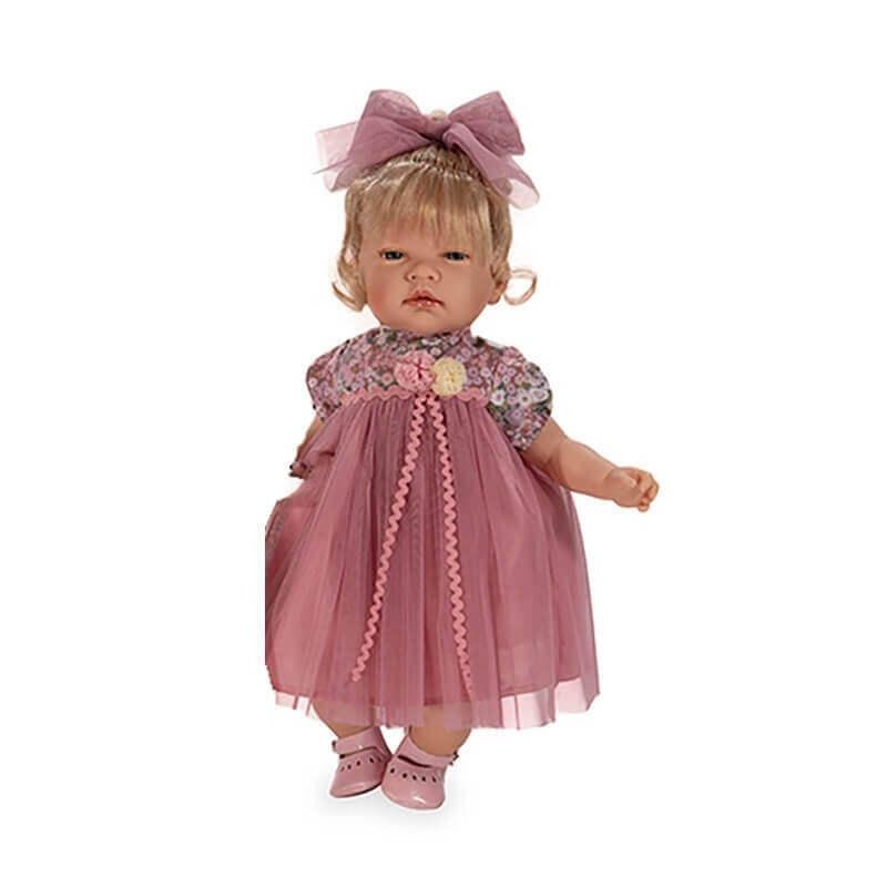 Κούκλα Celia Ροζ Φόρεμα Ξανθιά 45 εκ