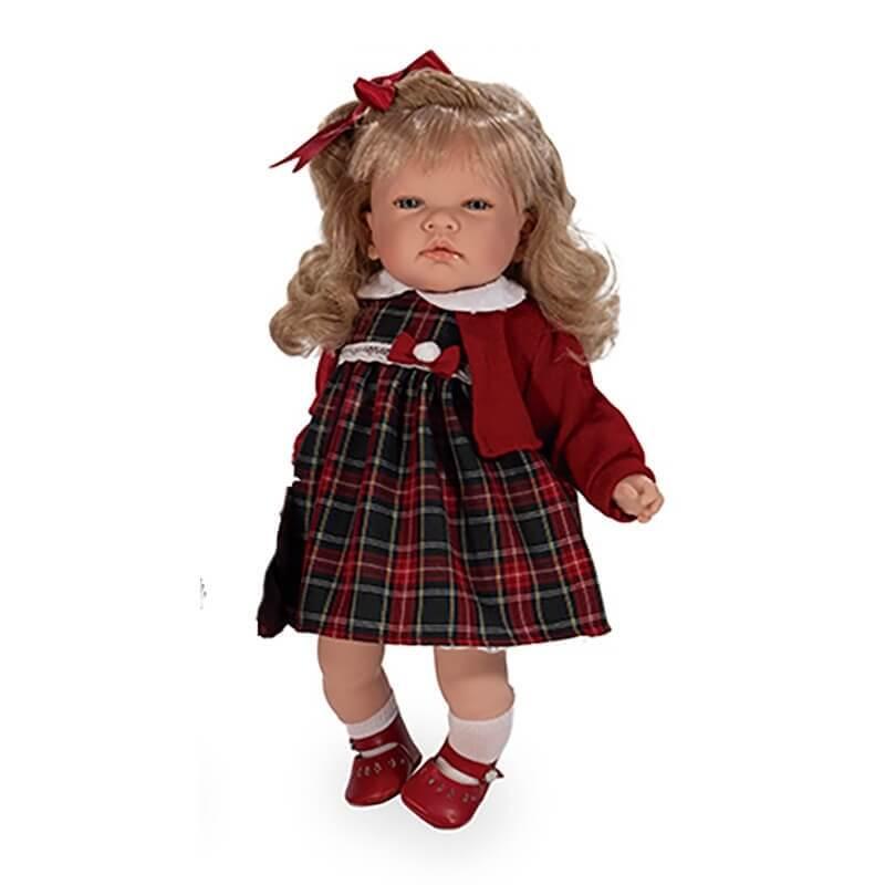 Κούκλα Celia με Κόκκινη Ζακέτα 45 εκ