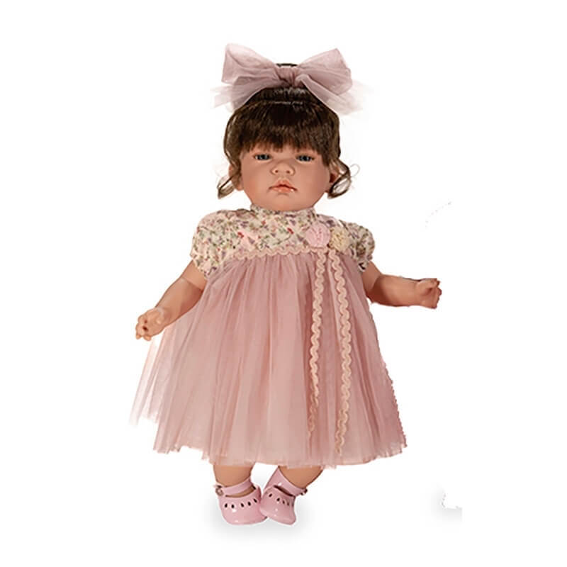 Κούκλα Celia Ροζ Φόρεμα Μελαχρινή 45 εκ