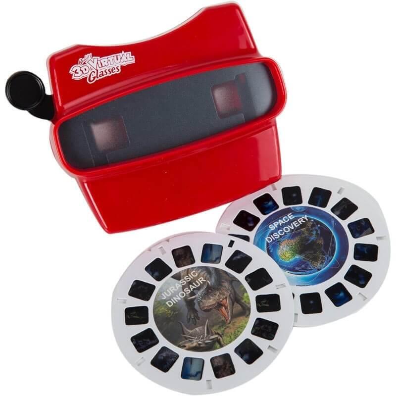 3D ViewMaster κόκκινο με 2 δίσκους