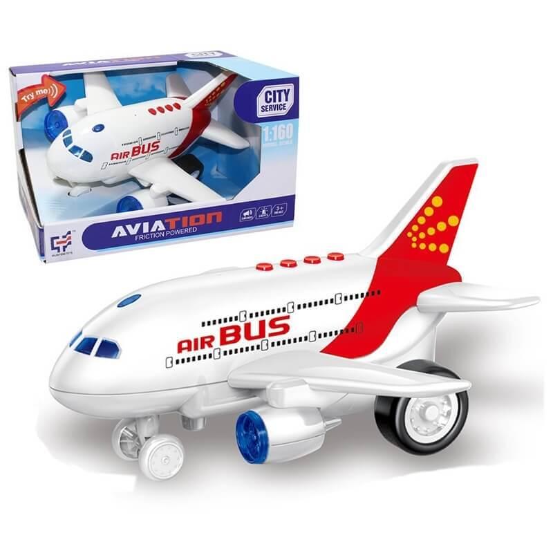 Αεροπλάνο Friction με Ήχο - λευκό κόκκινο